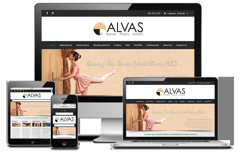 Alvas Barres Floors Mirrors Website Redesign