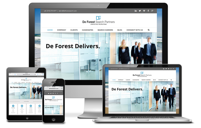 De Forest Search Partners Website Redesign