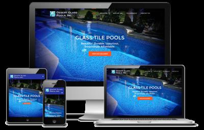 Desert Glass Pools Website Redesign