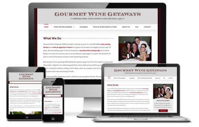 Gourmet Wine Getaways Website