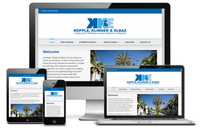Kopple, Klinger & Elbaz Website Redesign