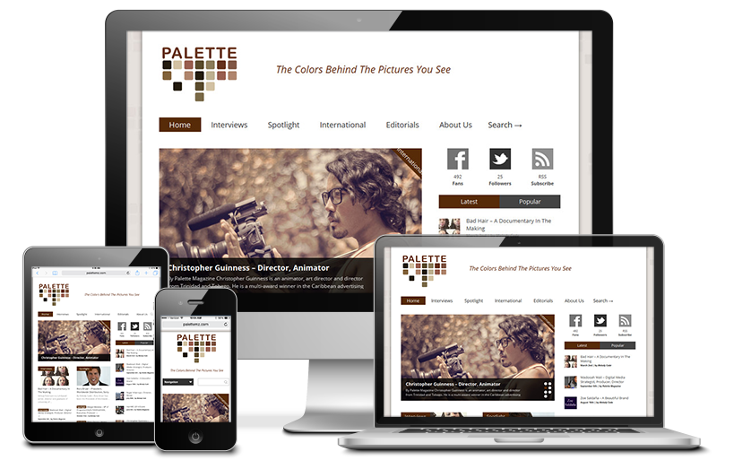 Palette Magazine Website